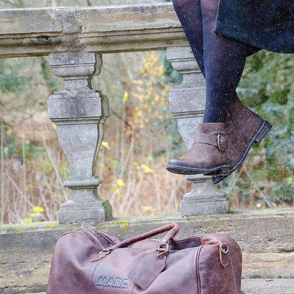 DAMEN MARC ART of Walking Leder Schuhe Stiefelette Gr 40